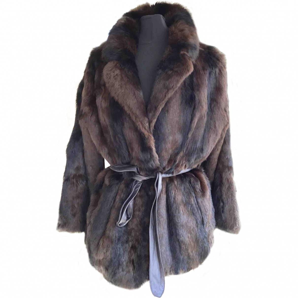 Sandro \N Brown Rabbit coat for Women 40 FR