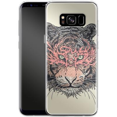 Samsung Galaxy S8 Silikon Handyhuelle - Masked Tiger von Mat Miller