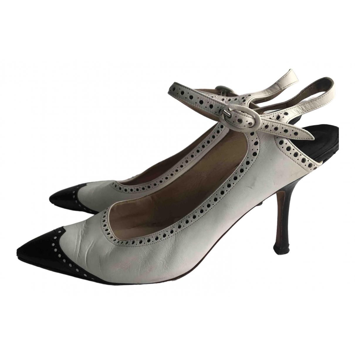 Manolo Blahnik \N Black Leather Heels for Women 39 EU