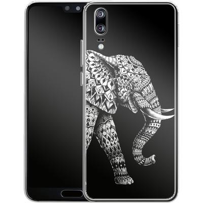 Huawei P20 Silikon Handyhuelle - Ornate Elephant 3.0 von BIOWORKZ
