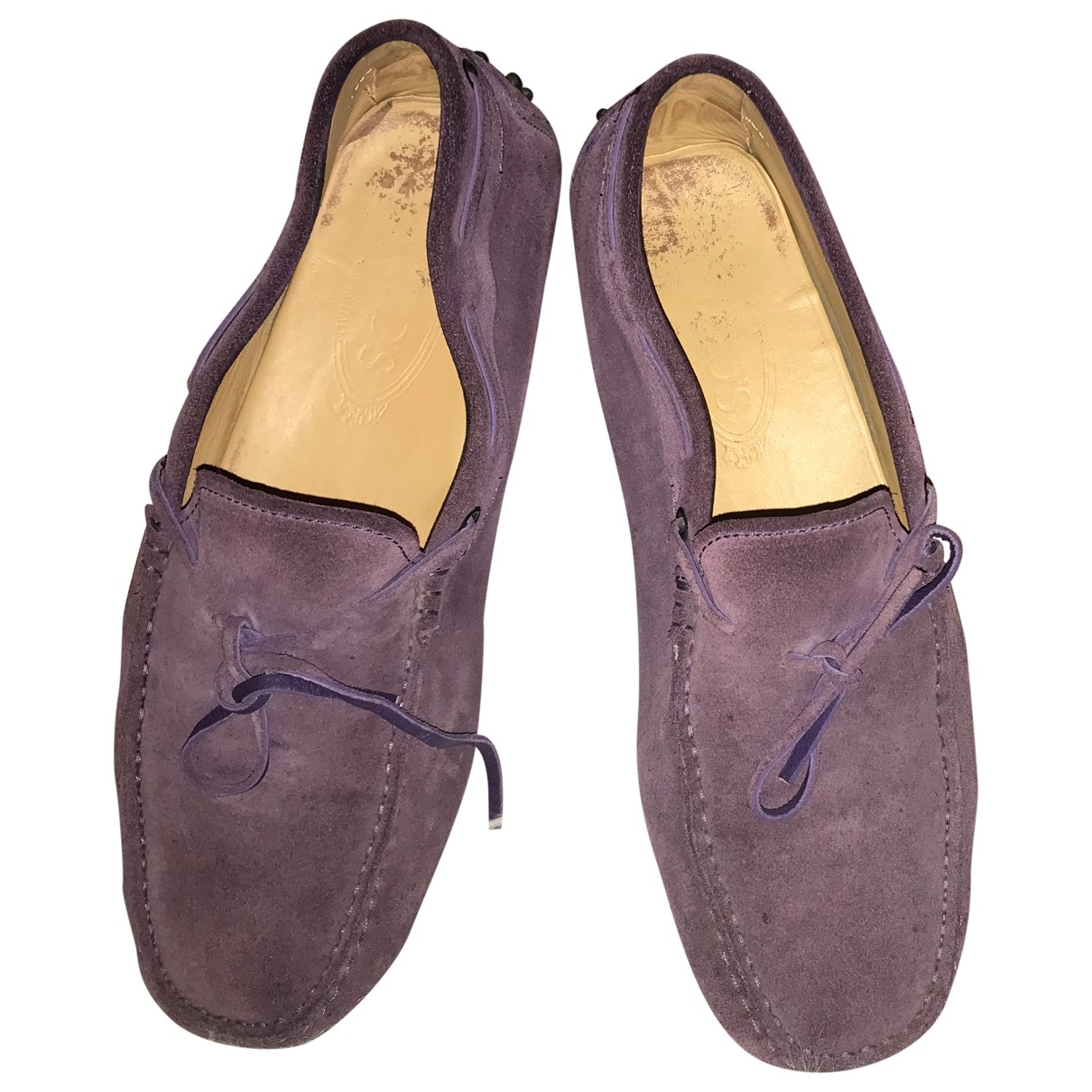 Tod's \N Purple Suede Flats for Men 7 UK