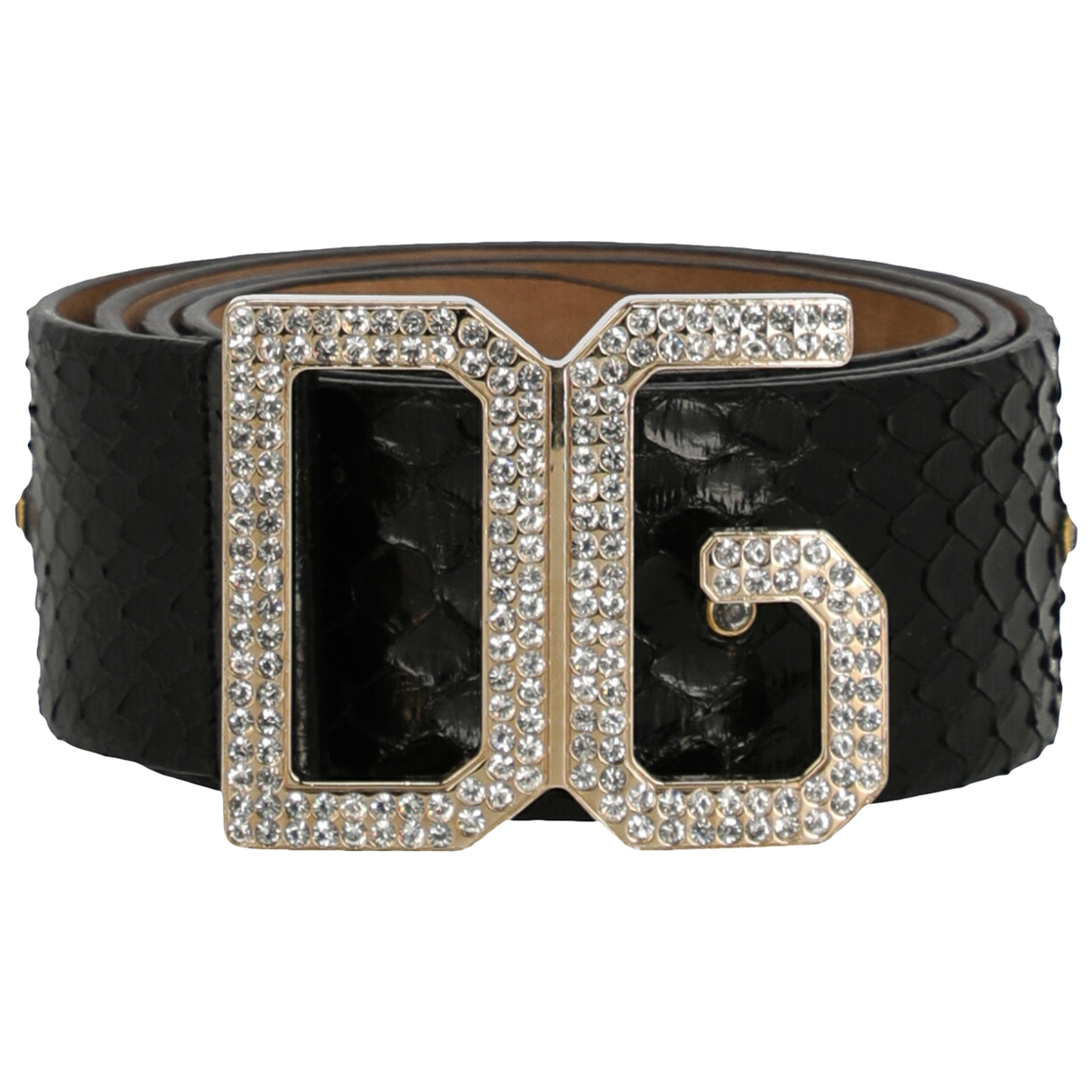 Dolce & Gabbana \N Black Python belt for Women XXS International