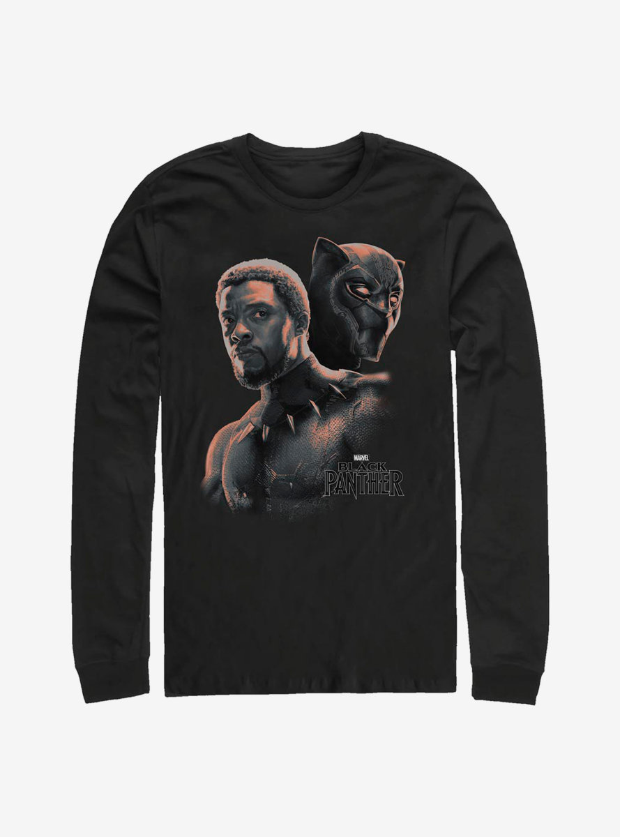 Marvel Black Panther T'Challa Unmasked Long-Sleeve T-Shirt