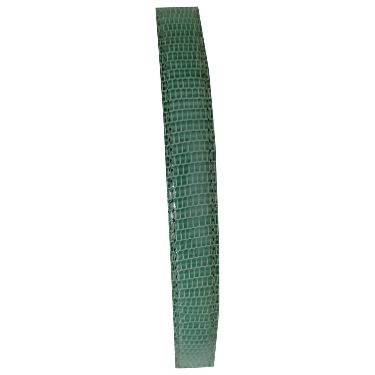 Poiray - Montre Bracelet Ma Premiere pour femme en lezard - vert