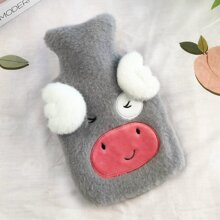 1pc Hot Water Bag With Cartoon Plush Cover