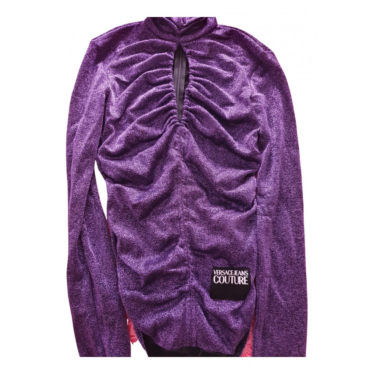 Versace Jeans N Purple Glitter  top for Women 42 FR