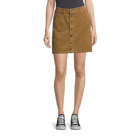 Arizona Womens Skirt-Juniors, 7 , Brown