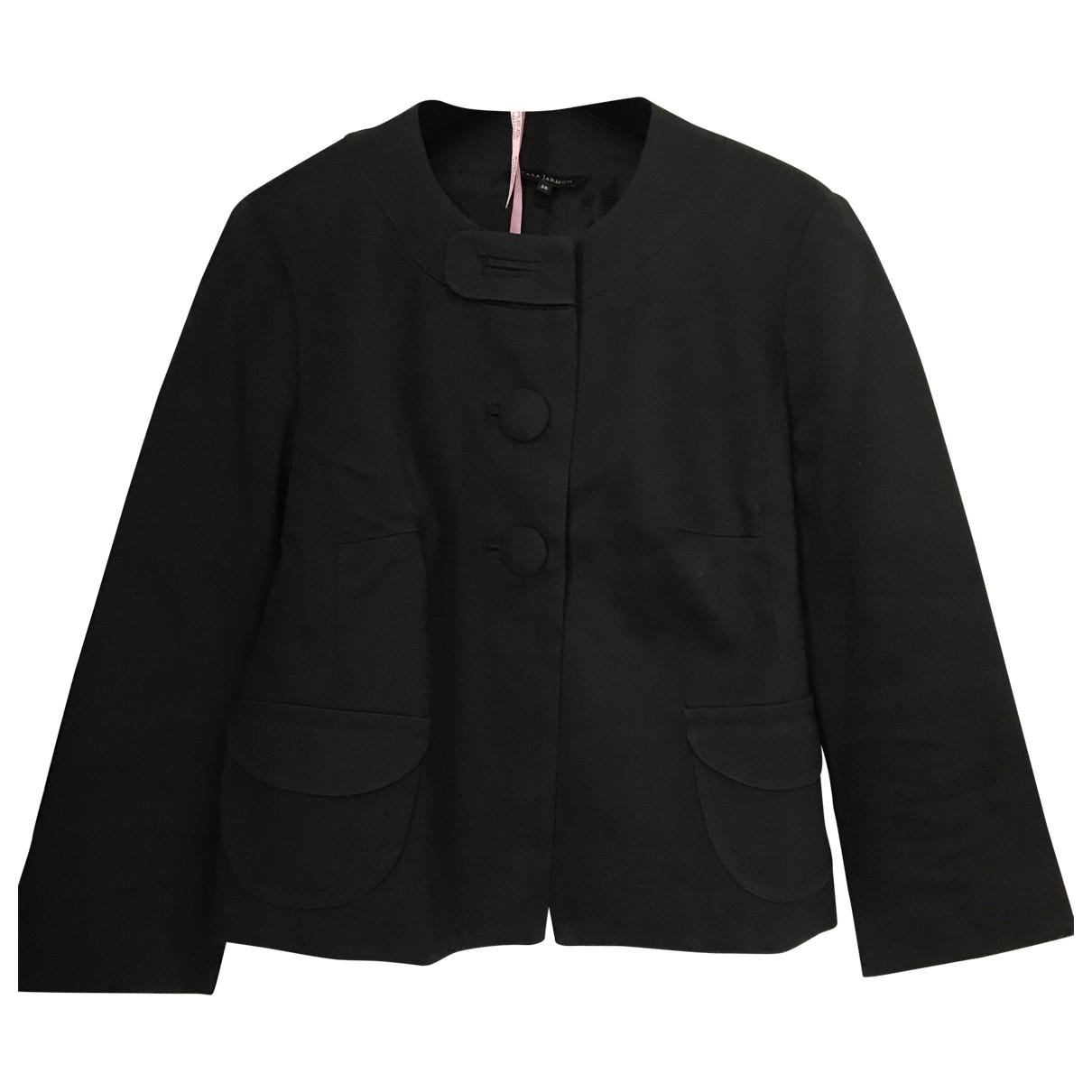 Tara Jarmon \N Navy Cotton jacket for Women 38 FR
