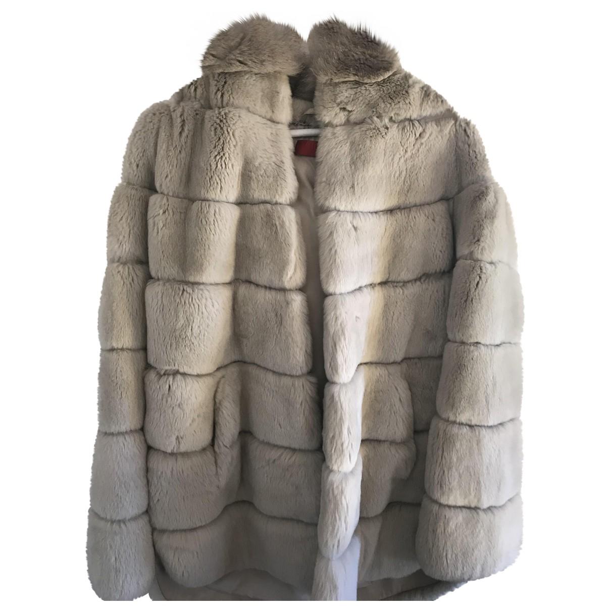 Giorgio & Mario - Manteau   pour femme en lapin - gris