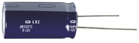 Nippon Chemi-Con 390μF Electrolytic Capacitor 25V dc, Through Hole - ELXZ250ELL391MH20D (10)