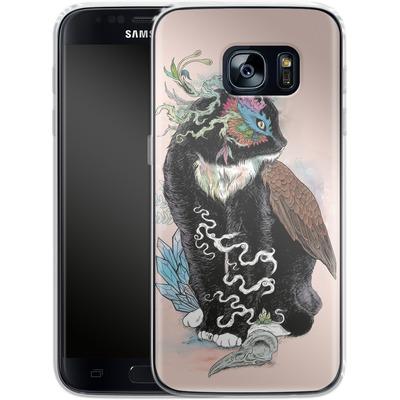 Samsung Galaxy S7 Silikon Handyhuelle - Black Magic von Mat Miller