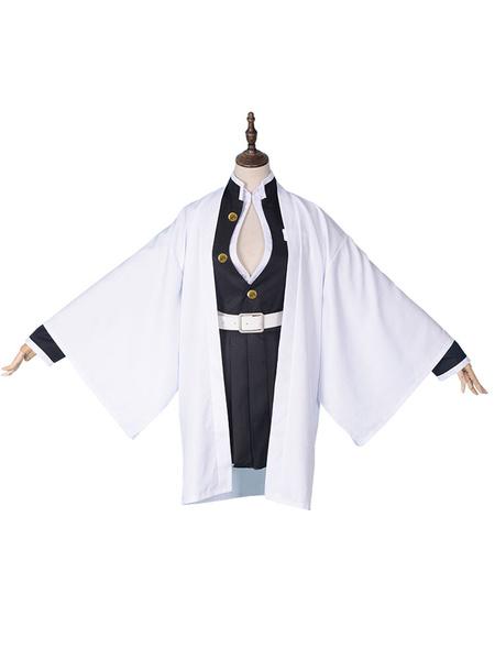 Milanoo Kanroji Mitsuri Cosplay Costume Demon Slayer: Kimetsu No Yaiba Kimono Costume