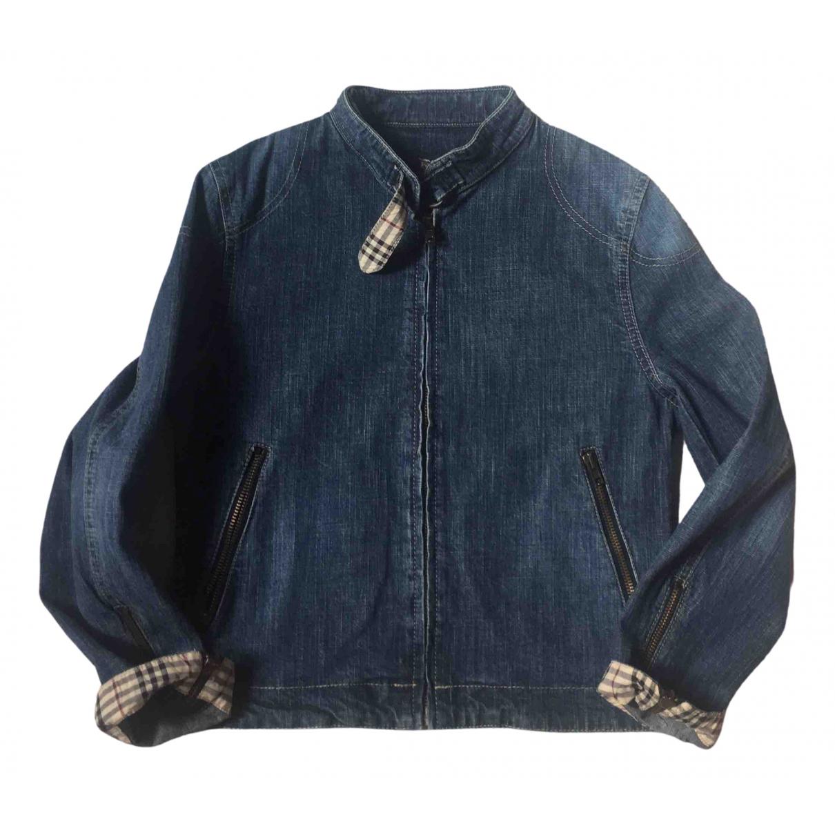 Burberry - Blousons.Manteaux   pour enfant en denim - bleu
