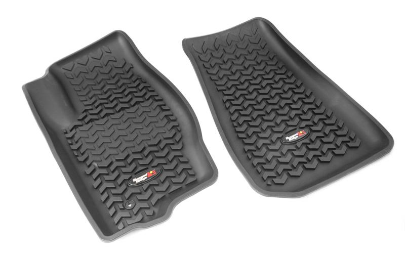 Rugged Ridge 12920.3 All Terrain Floor Liner, Front Pair, Black; 07-17 MK/Dodge Caliber