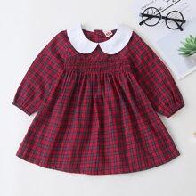 Baby Girl Plaid Peter Pan Collar Dress
