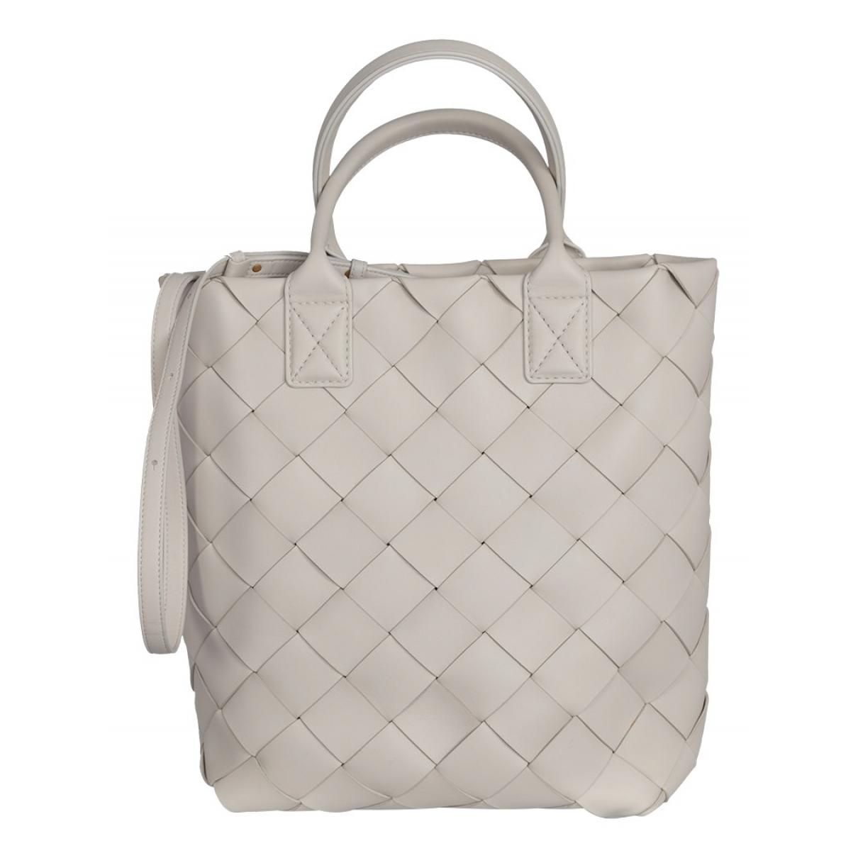 Bottega Veneta Maxi Cabat 30  White Leather handbag for Women N