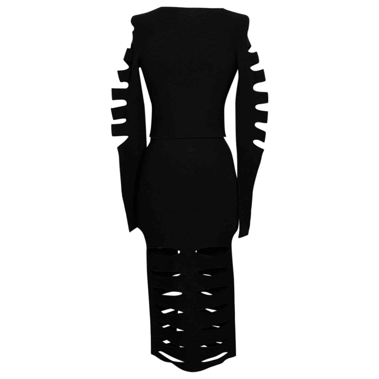 Cushnie Et Ochs \N Kleid in  Schwarz Synthetik