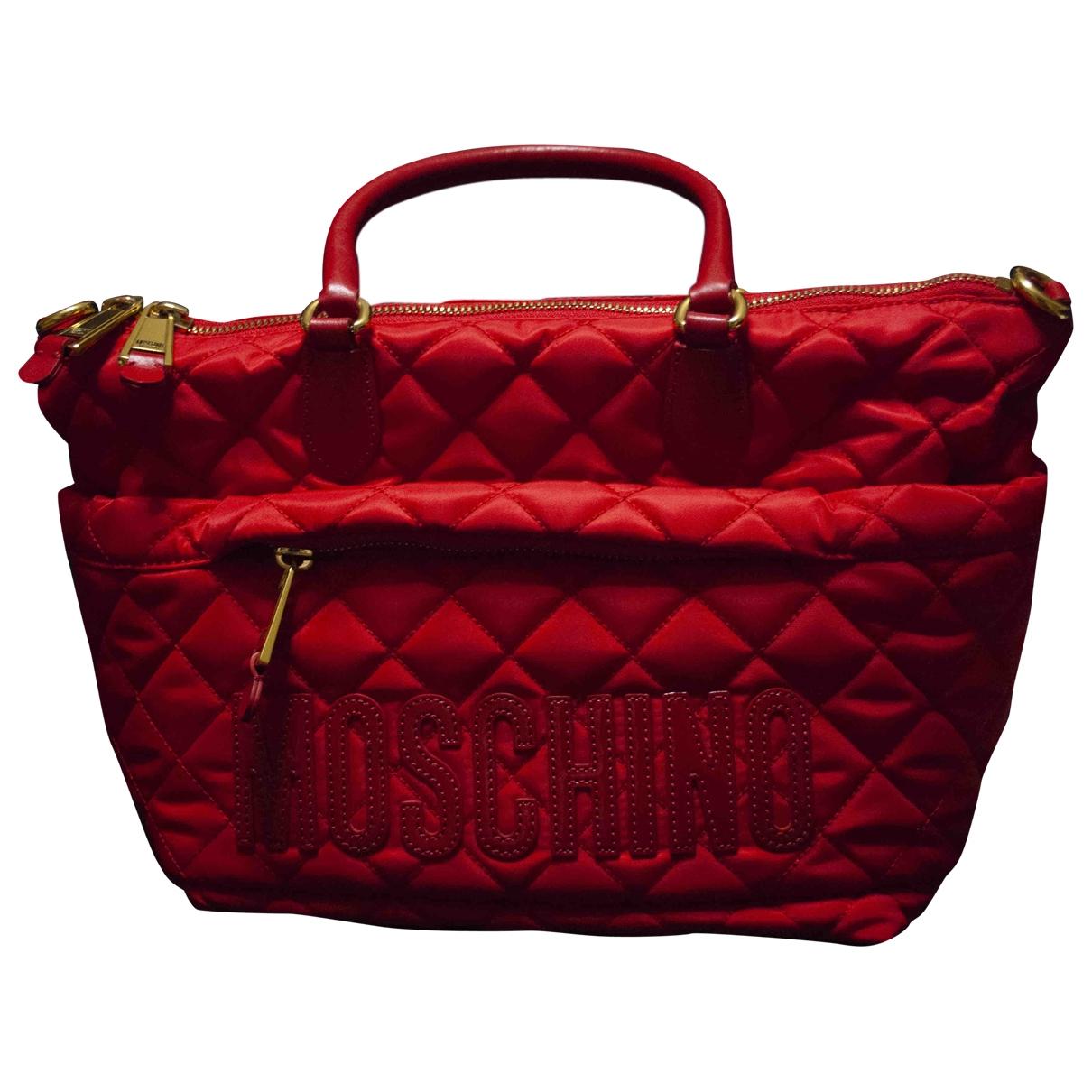 Moschino \N Handtasche in  Rot Leinen