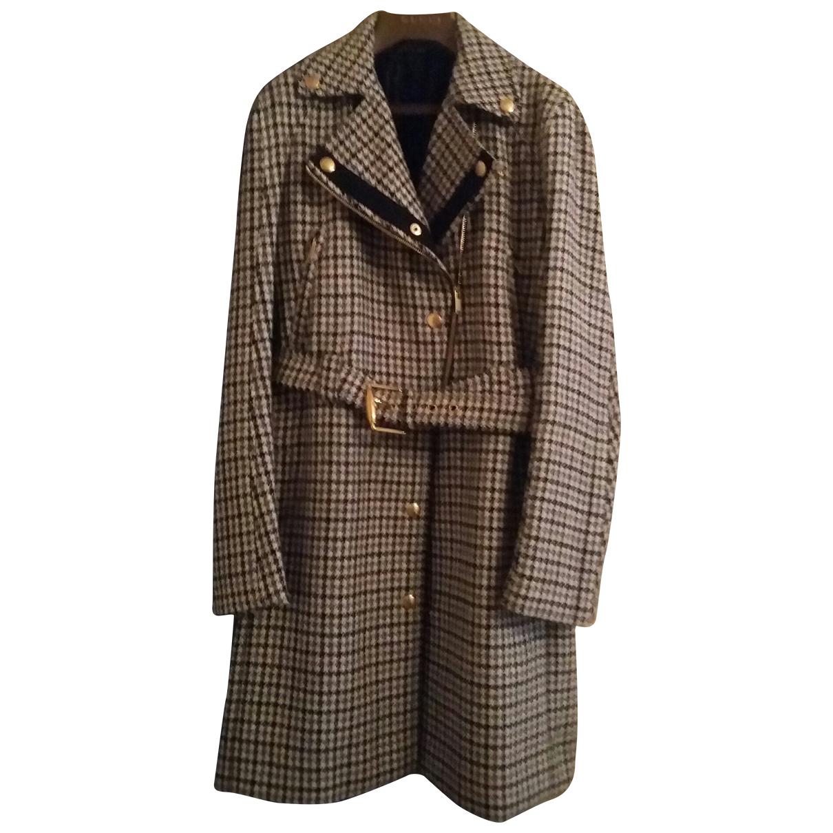 Gucci - Manteau   pour femme en laine - gris
