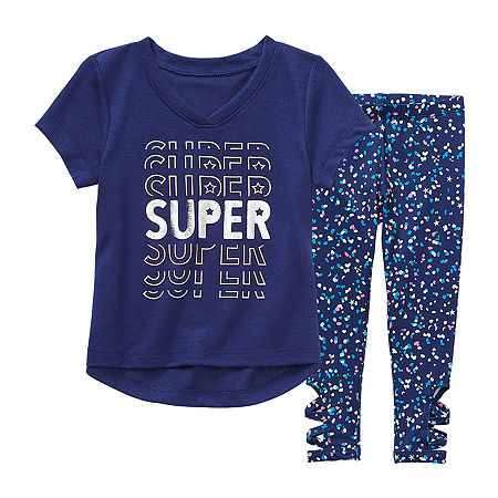 Okie Dokie Toddler Girls 2-pc. Legging Set, One Size , Blue
