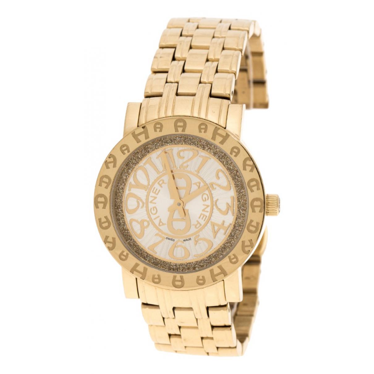 Aigner \N Uhr in  Gold Stahl