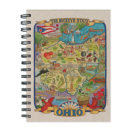 Tf Publishing Ohio State Map Journal, One Size , Multiple Colors