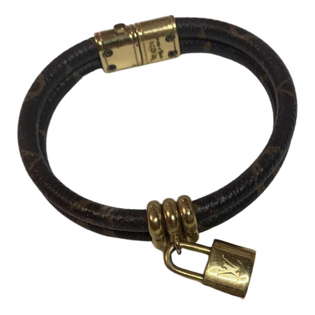 Louis Vuitton - Bracelet Monogram pour femme en toile - marron