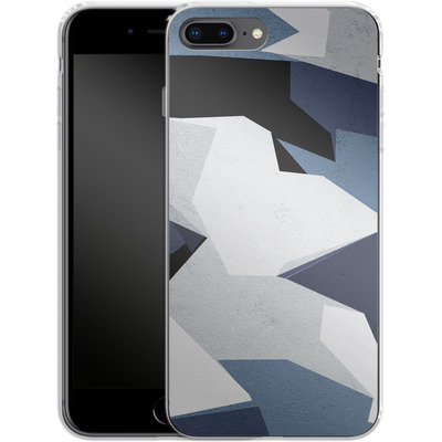 Apple iPhone 7 Plus Silikon Handyhuelle - Geometric Camo Blue von caseable Designs