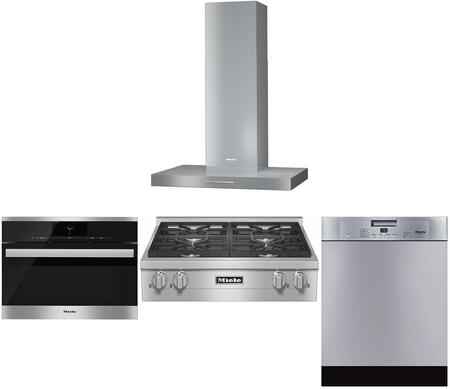 4-Piece Stainless Steel Kitchen Package with KMR1124G 30