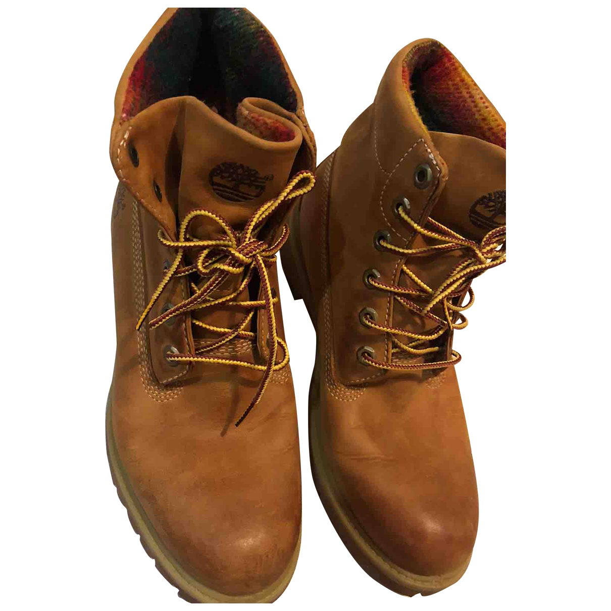 Timberland \N Camel Leather Boots for Men 43 EU
