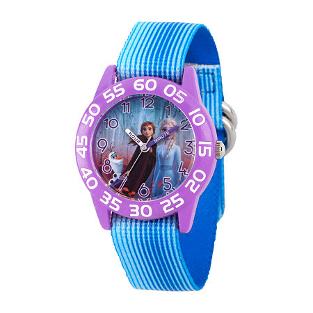 Disney Frozen Girls Blue Strap Watch-Wds000777, One Size , No Color Family