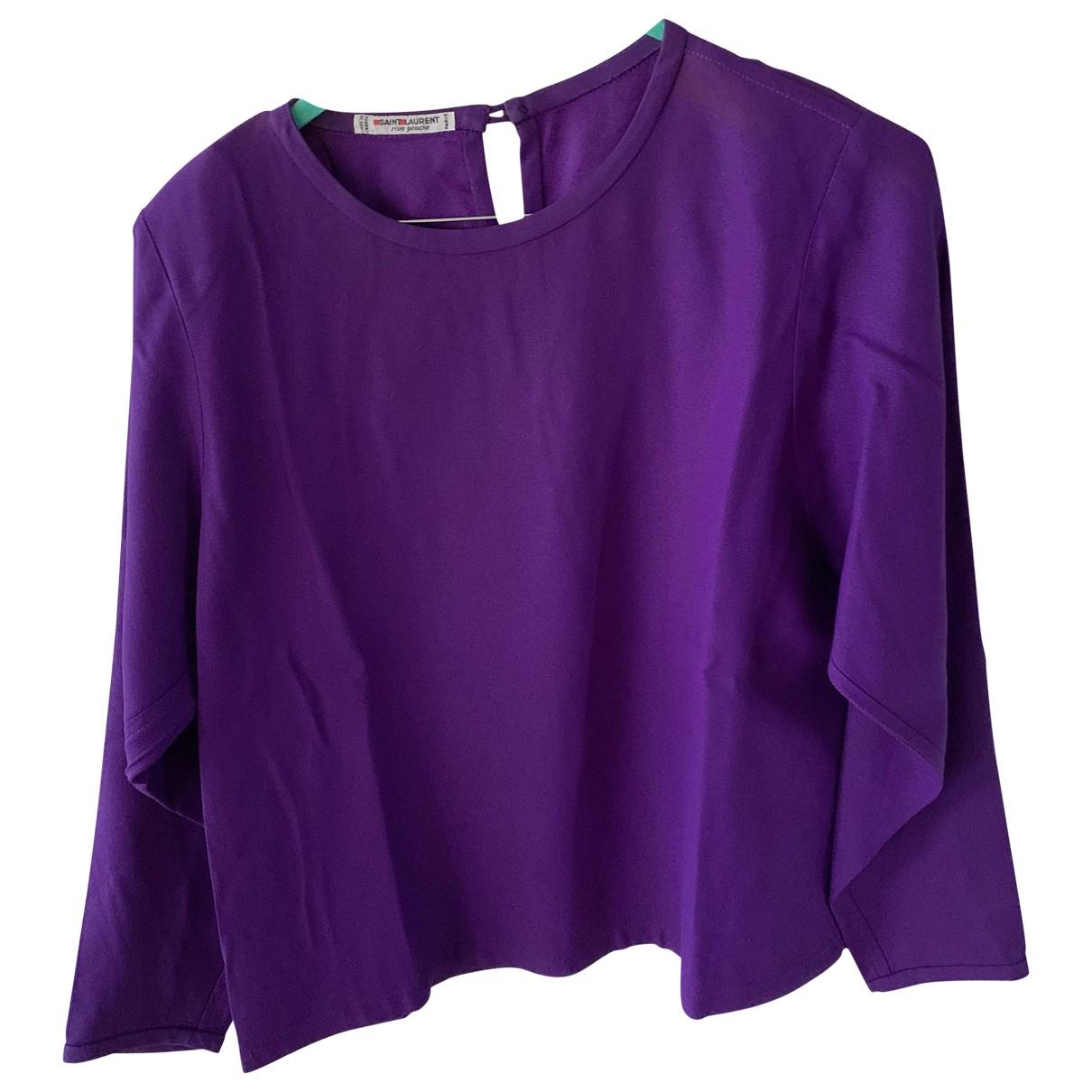 Yves Saint Laurent N Purple Silk  top for Women 38 FR