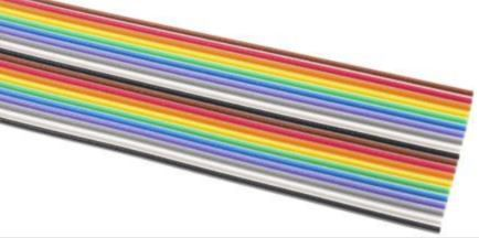 3M 34 Way Unscreened Flat Ribbon Cable, 43.18 mm Width, Series 3302, 30m