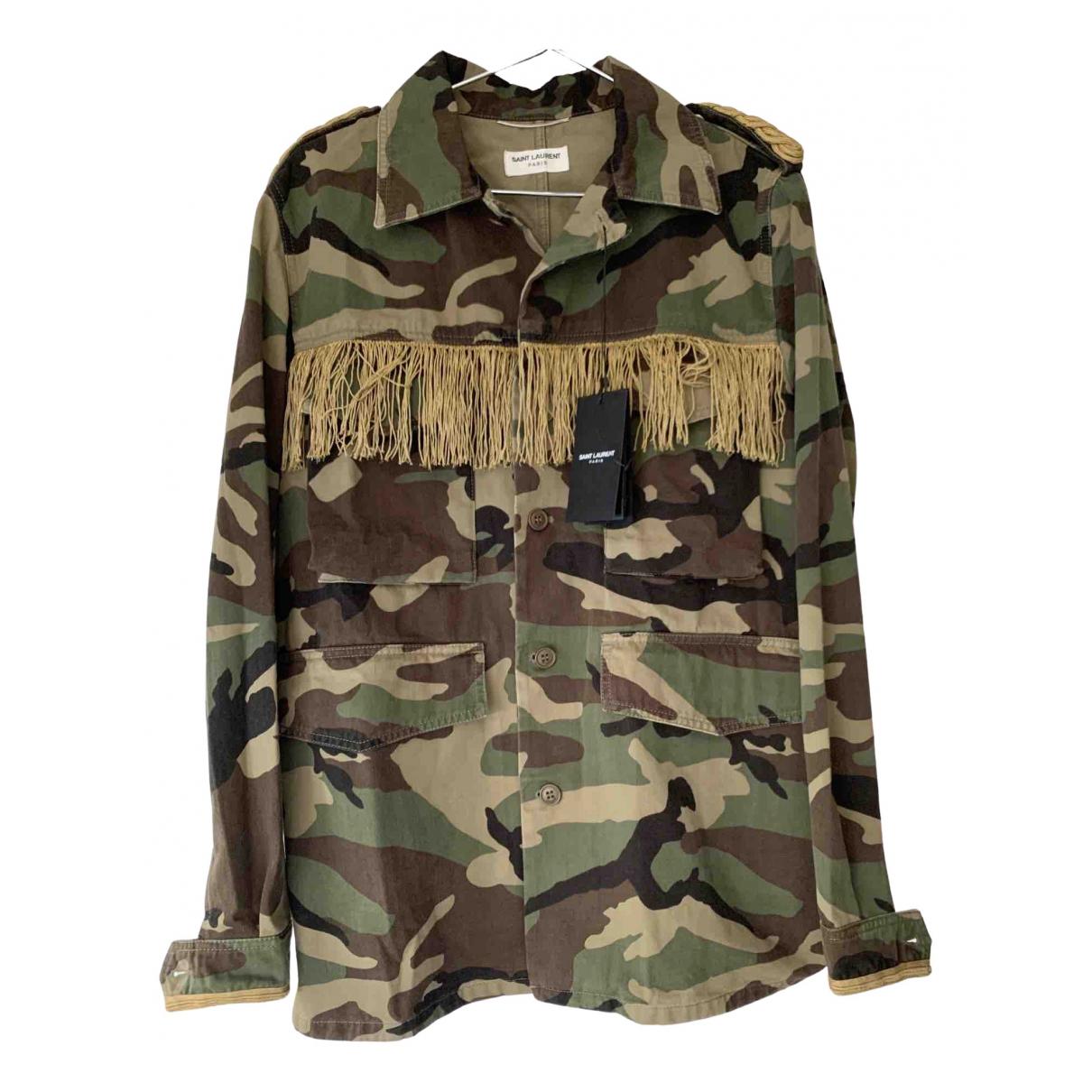 Saint Laurent \N Green Cotton jacket  for Men 46 FR