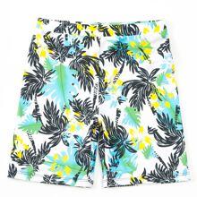 Boys Tropical Print Swim Shorts