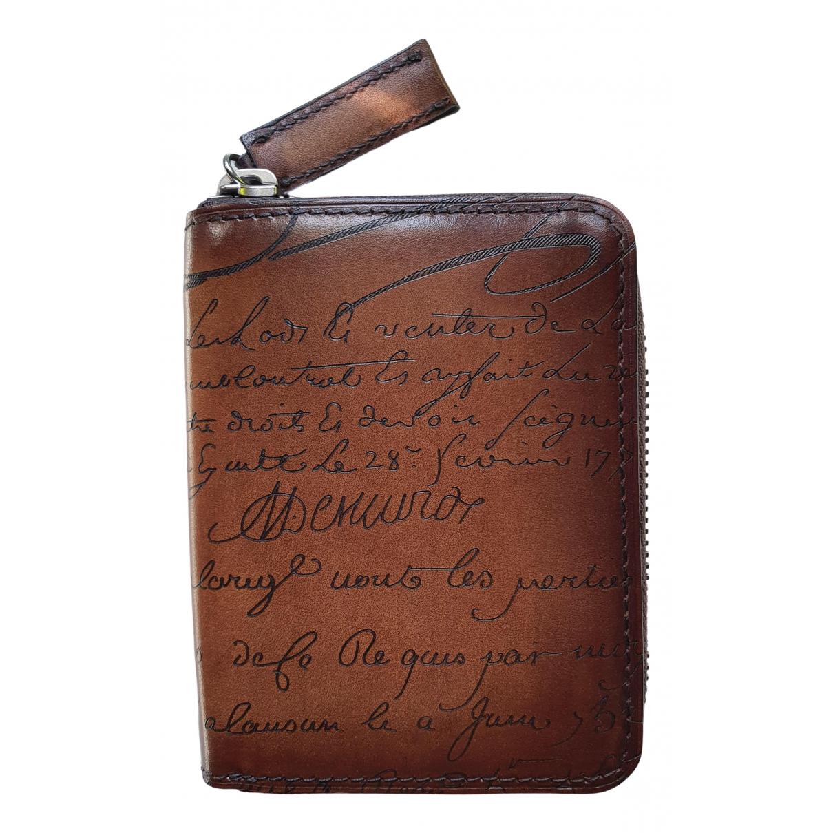 Berluti - Portefeuille   pour femme en cuir - marron