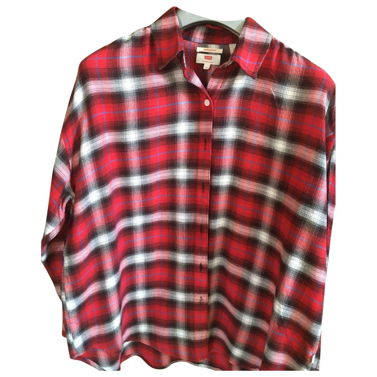 Levis - Pull   pour femme en coton - rouge