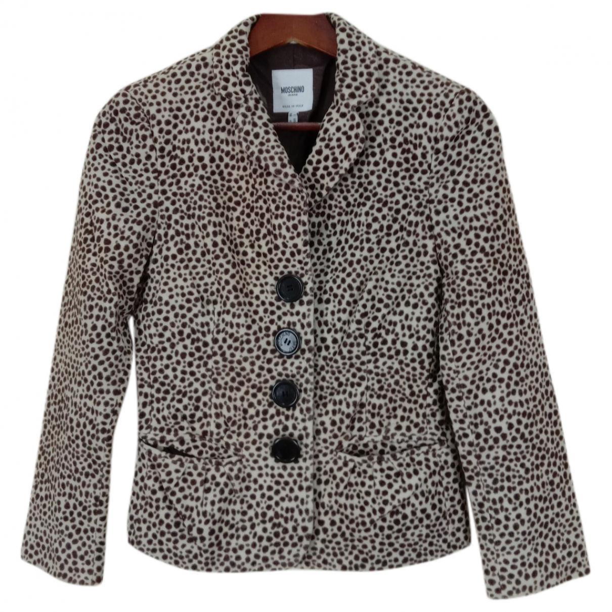 Moschino Cheap And Chic - Veste   pour femme en coton - marron