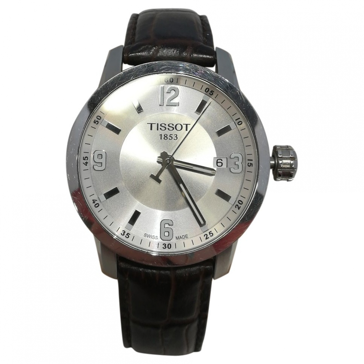 Tissot \N Uhr in  Grau Stahl