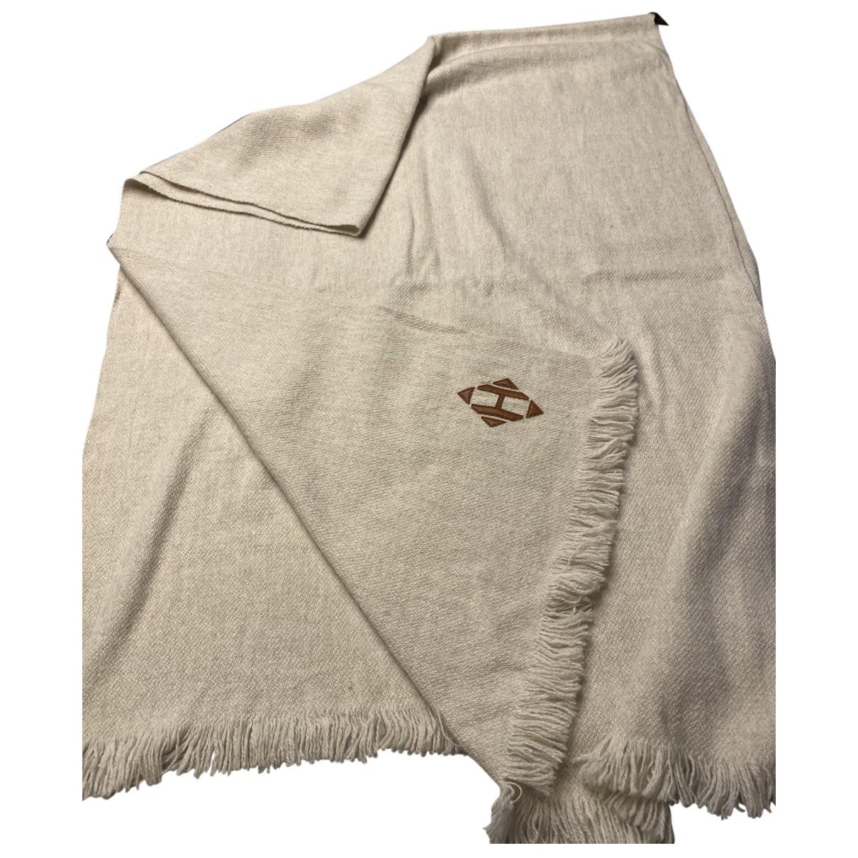 Hermes - Foulard   pour femme en laine - beige