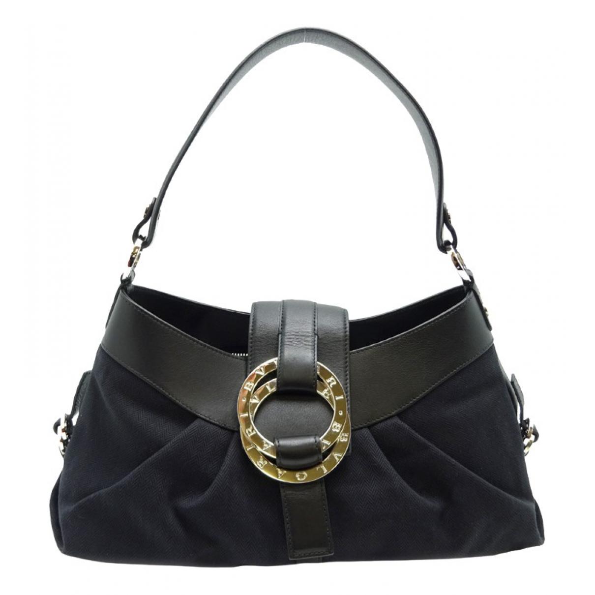 Bvlgari \N Handtasche in  Schwarz Leinen