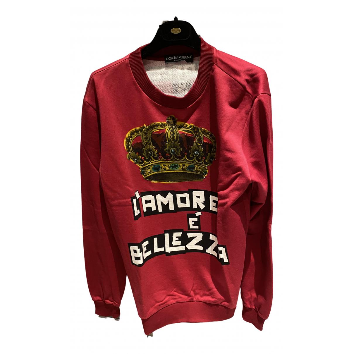 Dolce & Gabbana \N Red Cotton Knitwear & Sweatshirts for Men 48 IT