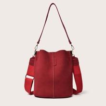 Solid Bucket Bag
