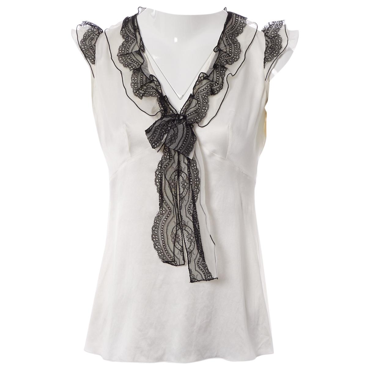 Dolce & Gabbana \N Top in  Weiss Seide