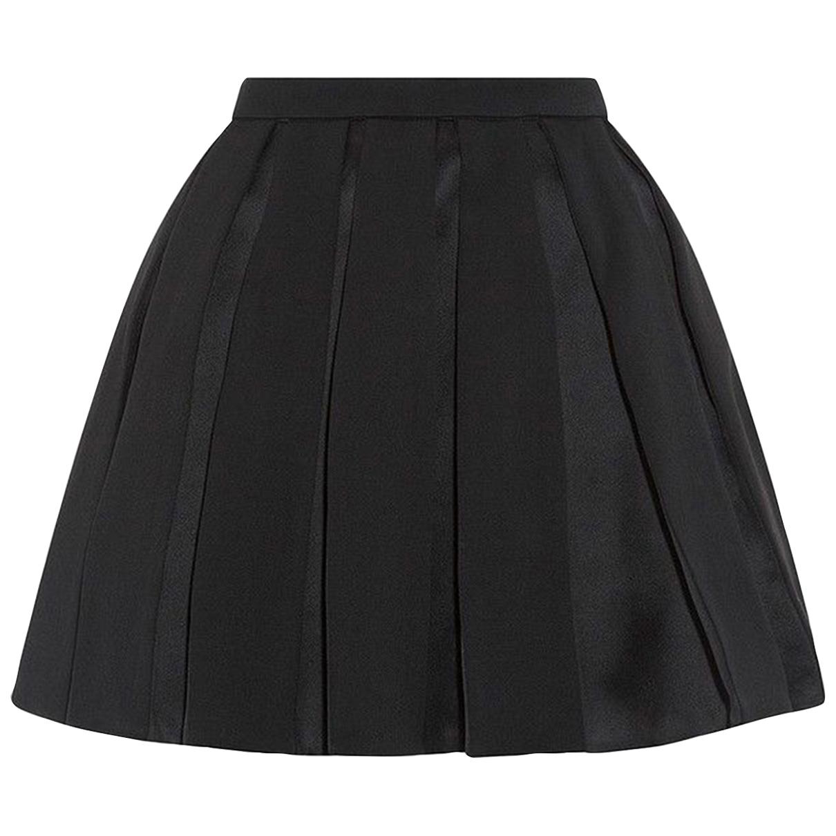Balmain \N Black Wool skirt for Women 36 FR