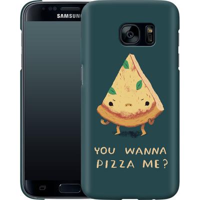 Samsung Galaxy S7 Smartphone Huelle - You Wanna Pizza Me? von Louis Ros