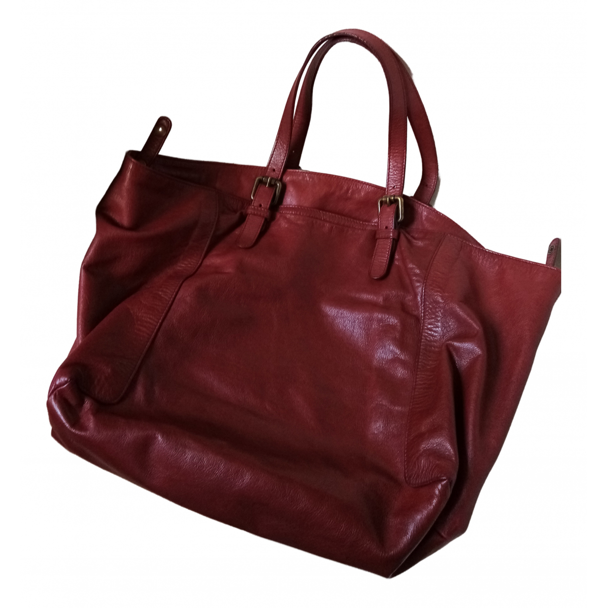 Gerard Darel Simple Bag Handtasche in  Bordeauxrot Leder