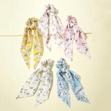 5 Stuecke Haarband mit Bluemchen Muster