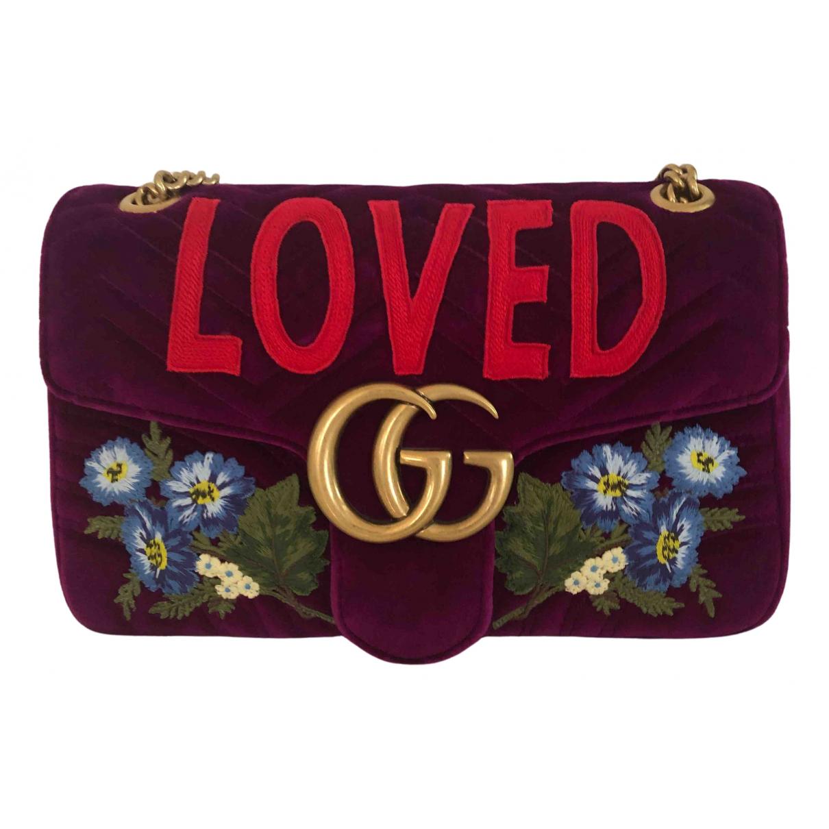Gucci Marmont Burgundy Velvet handbag for Women \N
