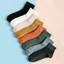 8 Paare Maenner Bunte Socken mit niedrigem Schnitt